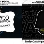 Envelope Cartão Agradecimento Star Wars