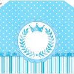 Envelope do Convite Realeza Azul
