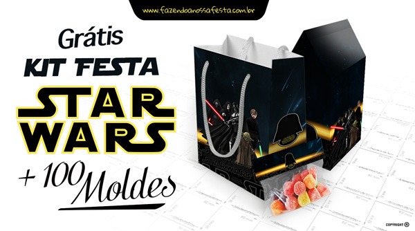Kit Festa Star Wars + 100 Moldes Gratis
