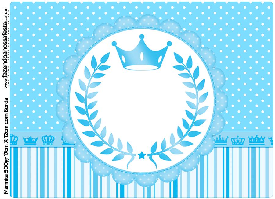 Marmita 500gr Realeza Azul