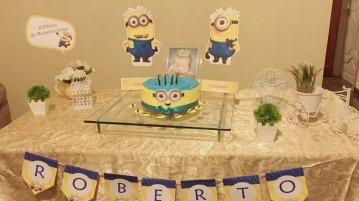 Mesa de Doces Festa Minions do Roberto