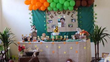 Mesa de Doces Festa Safari do Miguel