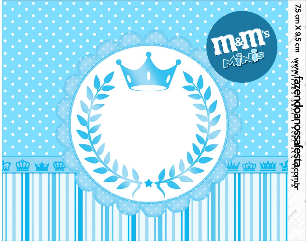 Mini M&M Realeza Azul