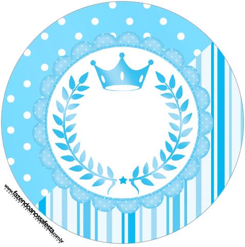 Molde Latinhas e toppers Realeza Azul