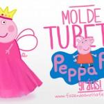 Molde Tubete Peppa Pig Princesa Grátis para Imprimir