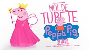 Molde Peppa Pig Princesa para Tubete com Tule