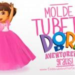 Molde Tubete Dora Aventureira