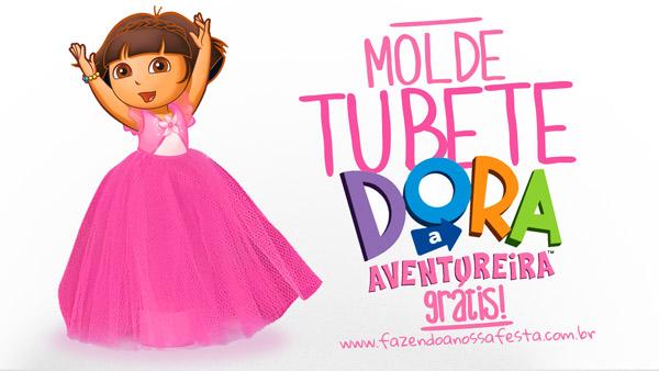 Molde Tubete Dora Aventureira Grátis para Imprimir 2