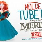 Molde Tubete Princesa Merida para Imprimir