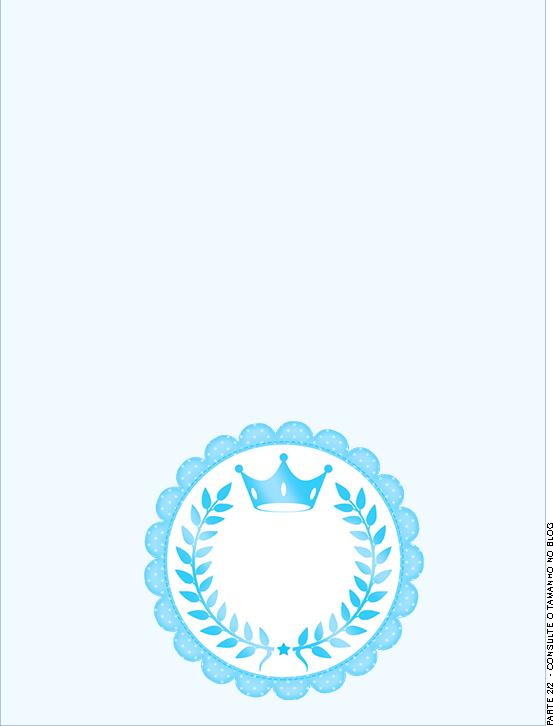 Passaporte - Parte de dentro Realeza Azul
