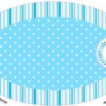 Placa Elipse Realeza Azul