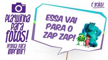 Plaquinha Festa Monstros SA
