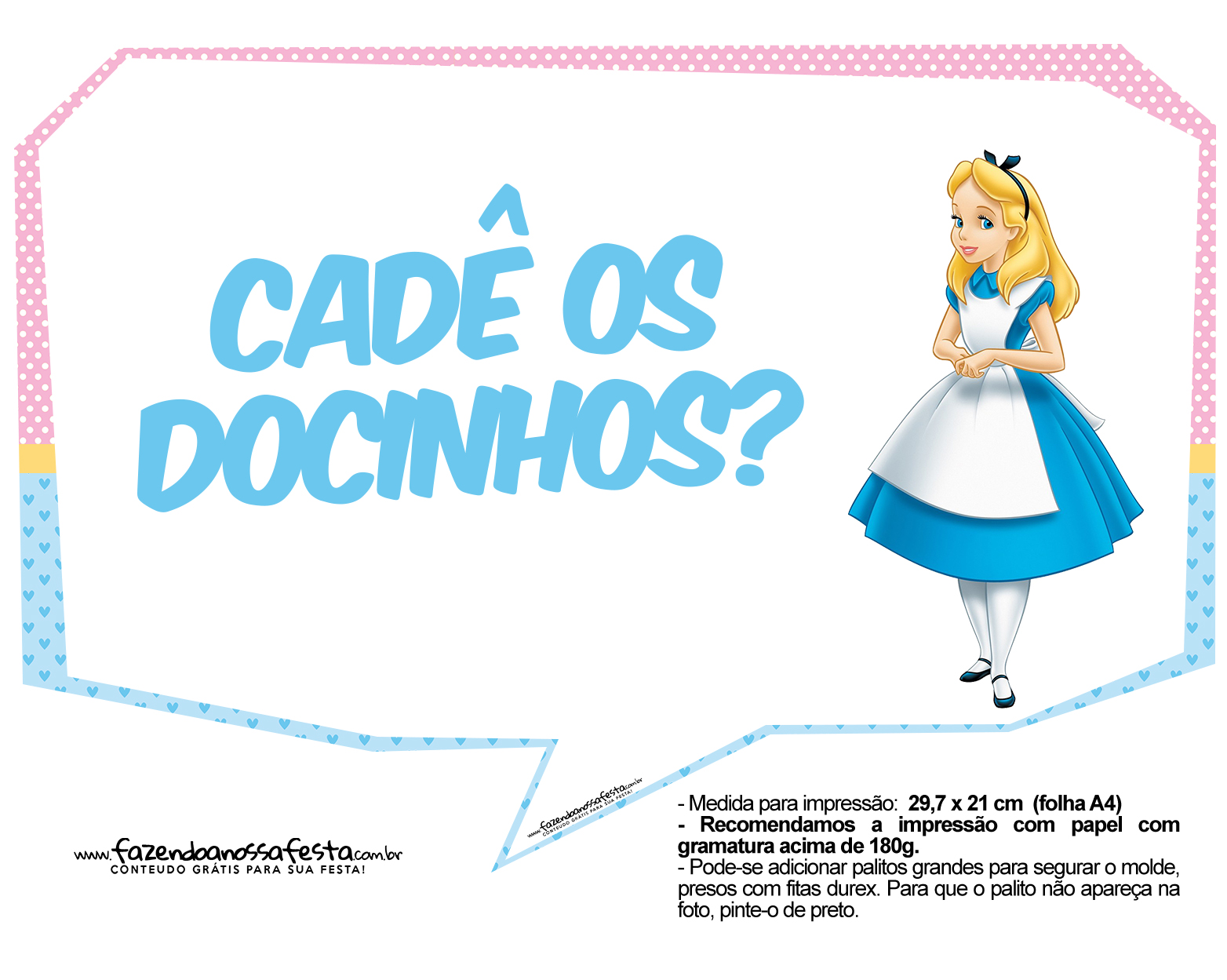 Plaquinhas Alice no País das Maravilhas 2