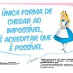Plaquinhas Divertidas Alice no País das Maravilhas 20