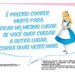 Plaquinhas Divertidas Alice no País das Maravilhas 21