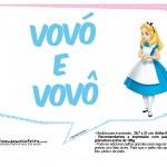 Plaquinhas Divertidas Alice no País das Maravilhas 4