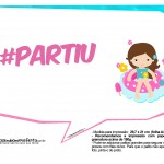 Plaquinhas Divertidas Pool Party Meninas 14