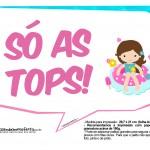Plaquinhas Divertidas Pool Party Meninas 17