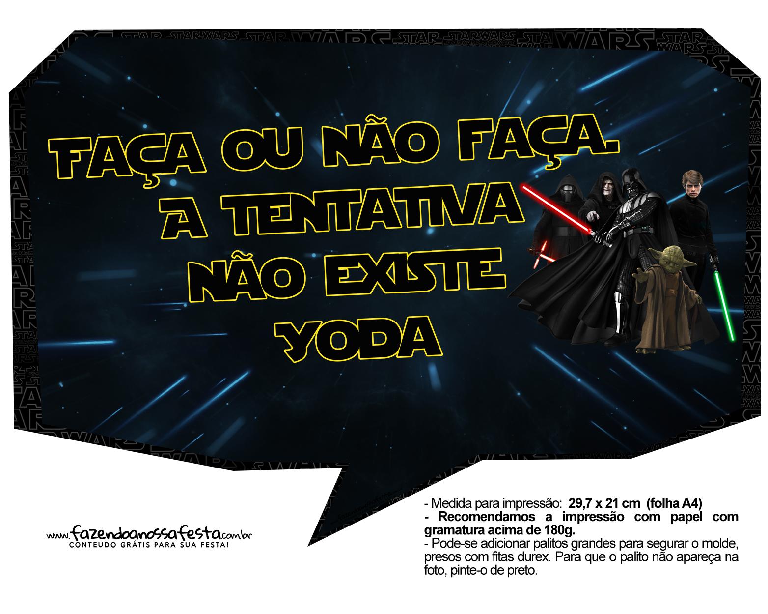 Plaquinhas Divertidas Star Wars 1