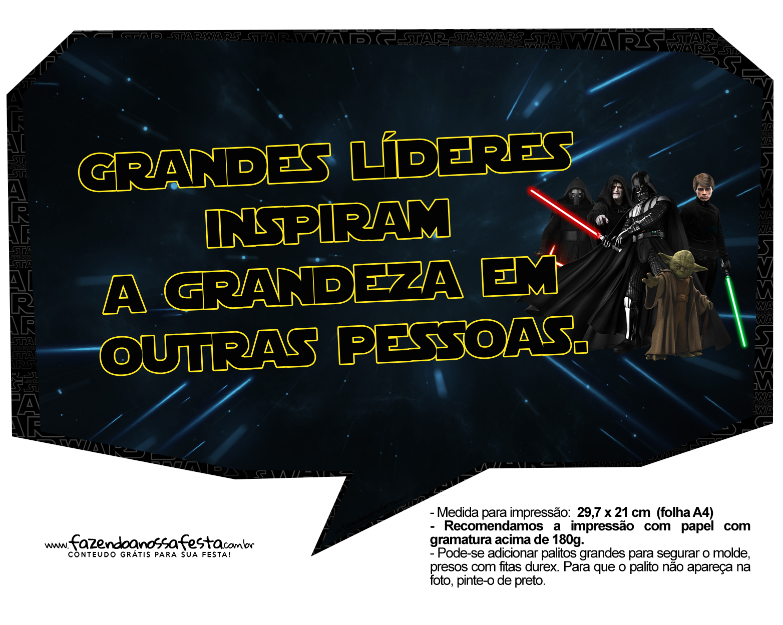Plaquinhas Divertidas Star Wars 2