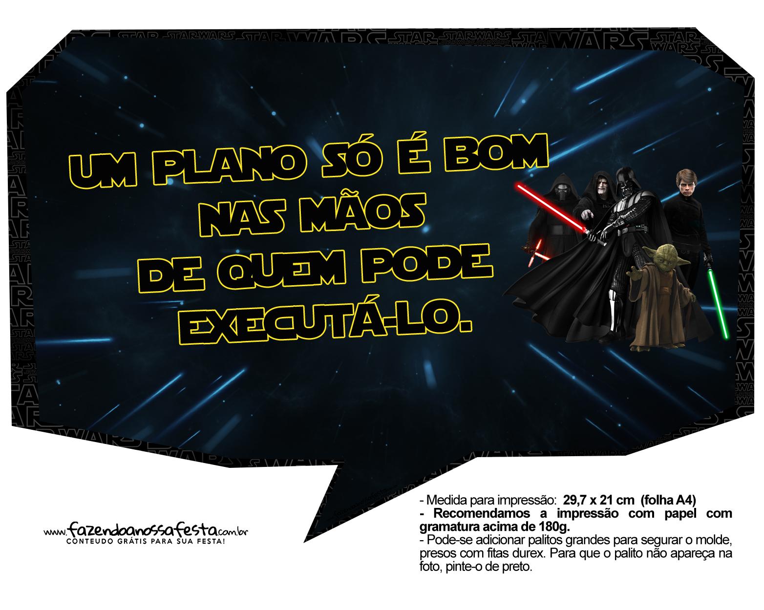 Plaquinhas Divertidas Star Wars 3