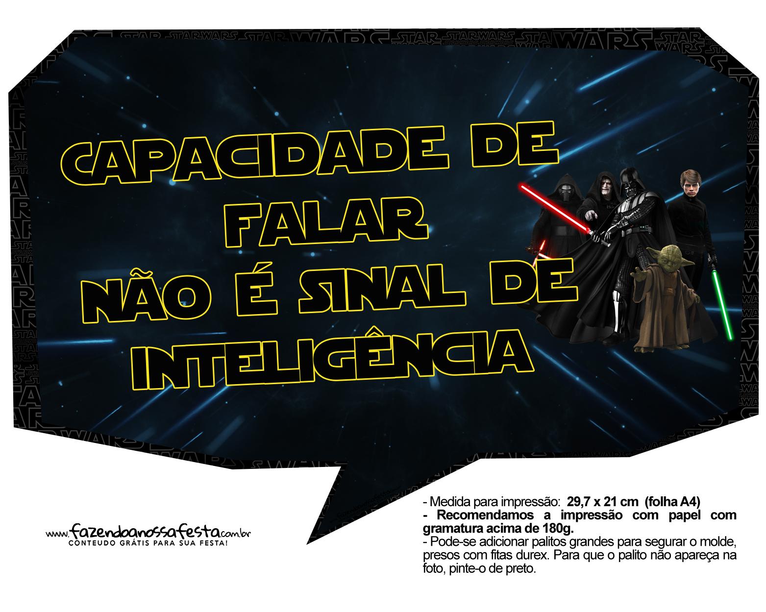 Plaquinhas Divertidas Star Wars 4