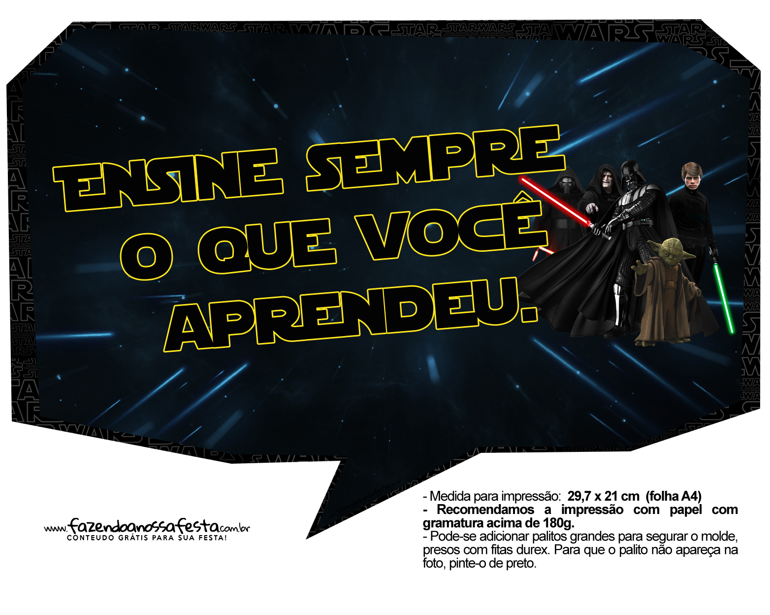 Plaquinhas para Foto Star Wars 7