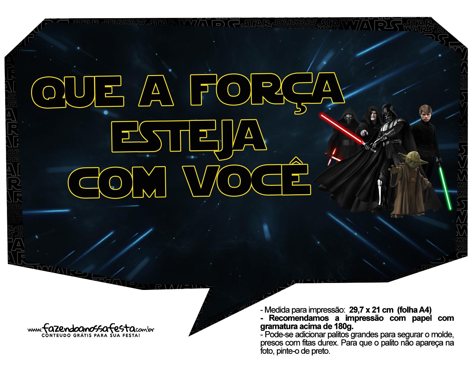 Plaquinhas Divertidas Star Wars