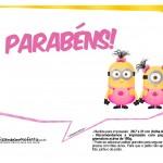 Plaquinhas Minions para Meninas 7