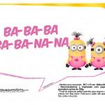 Plaquinhas divertidas Minions para Meninas 16
