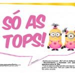 Plaquinhas divertidas Minions para Meninas 17