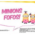 Plaquinhas divertidas Minions para Meninas 21