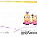 Plaquinhas divertidas Minions para Meninas 22