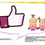 Plaquinhas divertidas Minions para Meninas 8