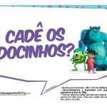 Plaquinhas Festa Monstros SA 2