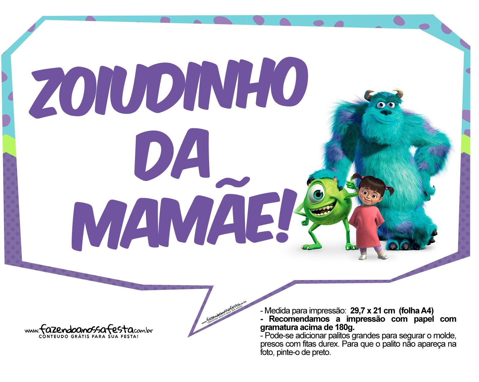 Plaquinhas Monstros SA 29