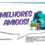 Plaquinhas para Festa Monstros SA 5