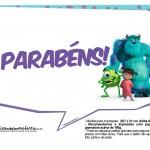 Plaquinhas para Festa Monstros SA 7