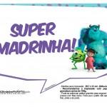 Plaquinhas para Festa Monstros SA 8