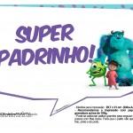 Plaquinhas para Festa Monstros SA 9