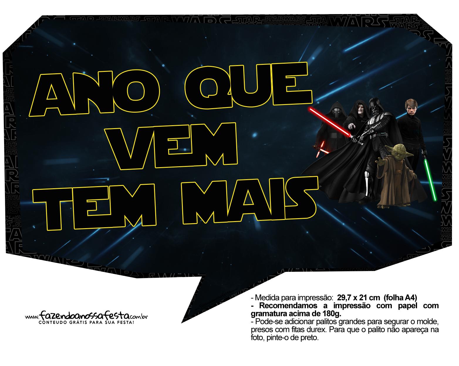 Plaquinhas para Festa Star Wars 15
