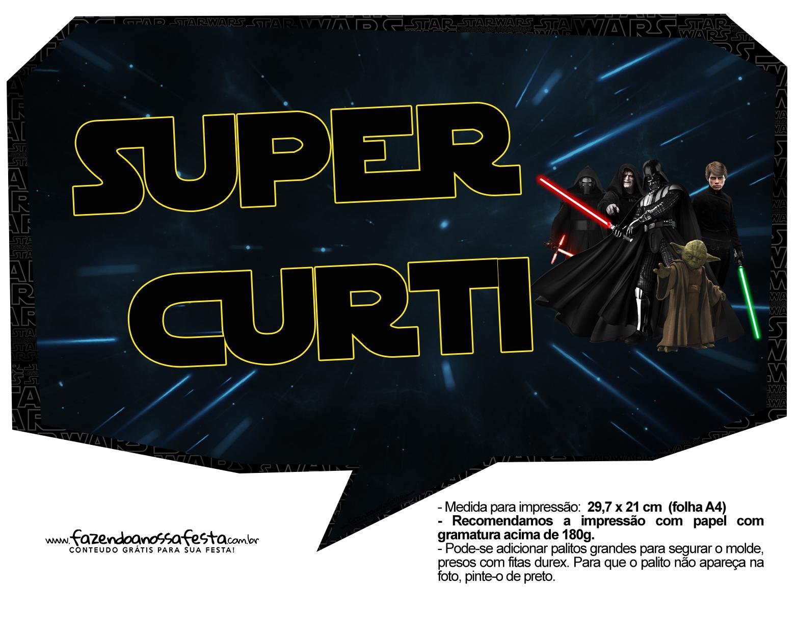 Plaquinhas para Festa Star Wars 2
