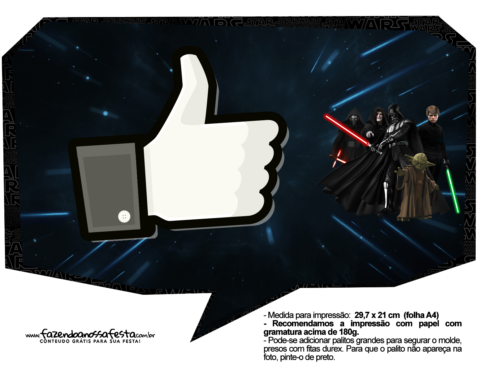 Plaquinhas para Festa Star Wars 4
