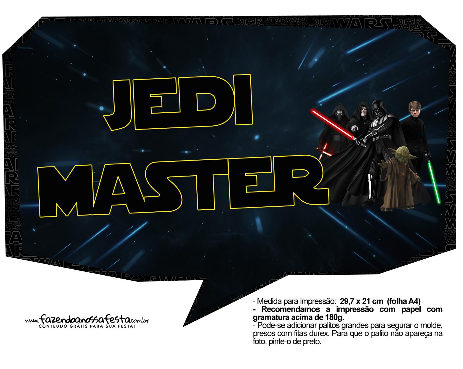 Plaquinhas para Festa Star Wars 8