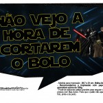 Plaquinhas para Festa Star Wars 9
