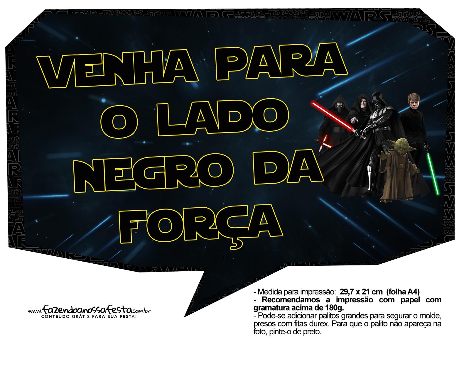 Plaquinhas para Festa Star Wars
