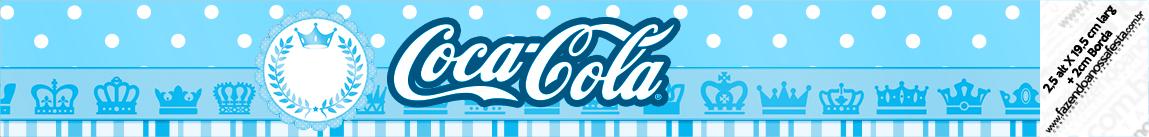 Rótulo Coca-cola Realeza Azul