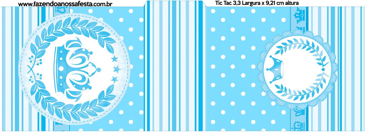 Rótulo Tic Tac Realeza Azul