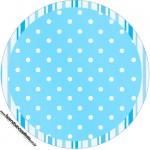 Rótulo para tubetes Realeza Azul