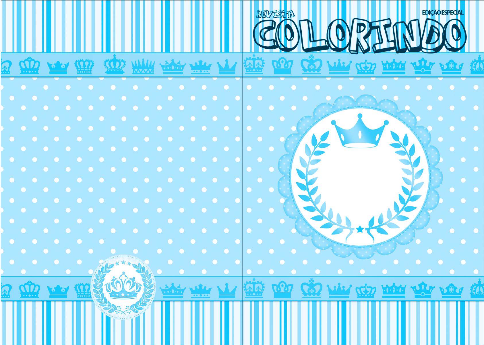Revista Colorindo Realeza Azul